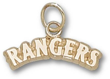Texas Rangers 14K Gold Arched ''RANGERS'' 3/16'' Pendant