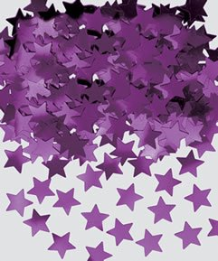 Amscan International Metallic Stardust Confetti, Purple