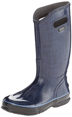 Bogs Women's Linen Rain Boot, Indigo (Bogs Rain Boots Women compare prices)