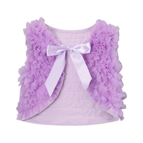 Lavender Girls Chiffon Shrug Vest, Size 5T