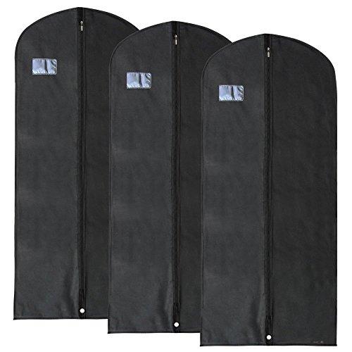 Hangerworld - Set da 3 Porta abiti in tessuto traspirante - con zip (137 cm)