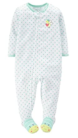 Piece jersey footed sleeper pajamas 12 24 months bees clothing