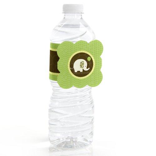 Elephant - Water Bottle Labels (Set Of 12)