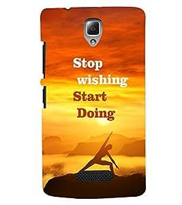 PRINTVISA Quotes Motivation Case Cover for Lenovo A2010
