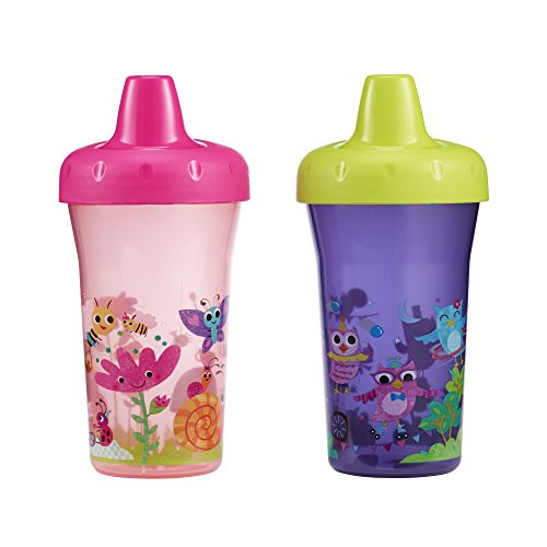 The First Years Simple Sippy Cup - 9oz, 2 pack, Pink and Purple (The First Years 2 Pack Sippy Cup compare prices)