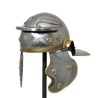 Urban Designs Antique Replica Roman Centurion Imperial Gallic Galea Helmet, Silver/Gold