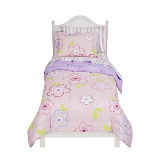 Circo Twin Bed In Bag Pink Flower Dots Comforter Set Sheets Sham front-1002103