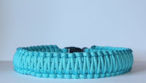 SENC-550-Military-Spec-King-Cobra-Paracord-Survival-Dog-Collar-Turquoise