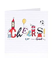 Football & Beer Cheers Birthday Card