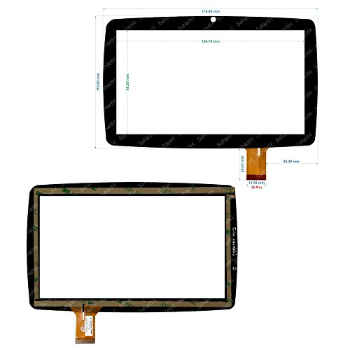 "Vetro Touch screen Digitizer 7"" Lisciani Mio Tab Smart Evolution MP0100887 Nero"