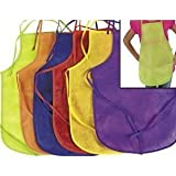 12 Pack Assorted Childrens Artists Aprons - Kitchen or Classroom