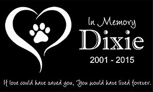 "Personalized Pet Stone Memorial Marker Granite Marker Dog Cat Horse Bird Human 6"" X 10"" Personalised Labrador Golden Retriever"