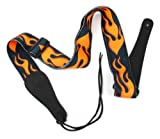 Bray's Terylene Flaming Guitar Strap For Gibson, Ibanez, Tanglewood, Yamaha & Fender Acoustic Guitars - With Reinforced Ends
