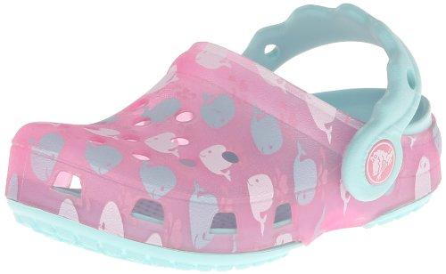 Crocs Chameleons Whale Clog (Toddler/Little Kid),Pink Lemonade/Sea Foam,8 M US Toddler
