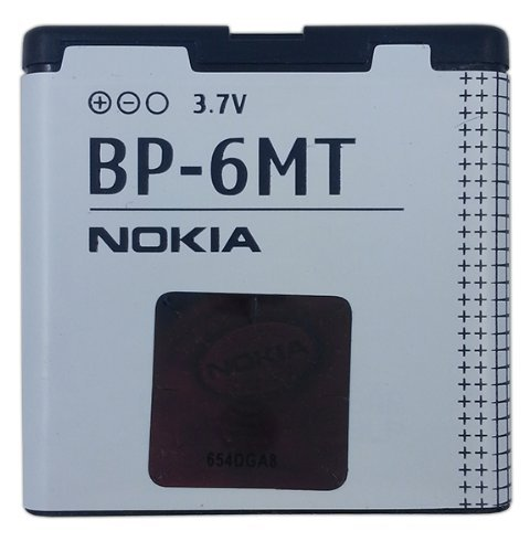 Nokia BP-6MT 1050mAh Battery Sealed in Retail Packaging for Nokia 6350 / E51 / Mural 6750 / N81 / N82