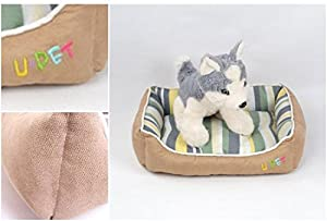 1Pc Fiduciary Modern Pet Bed Size S Puppy Blanket Cat Mat Dog House Color Beige