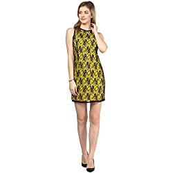 LY2 Yellow and Black Color Western Wear for Smart Casual and Party Look