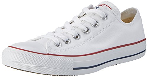 Converse Unisex Chuck Taylor All Star Core Ox Sneaker, Optical White, Men's 5, Women's 7 Medium