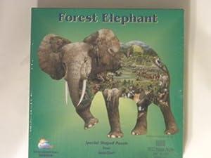 American Puzzles, Forest Elephant Puzzle, 1000 Pieces Puzzle (SHAPE)