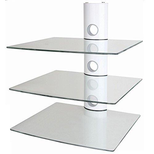 NEG-Multimedia-TV-Rack-SUSPENDER-503W-wei-mit-3-Glas-Ablagen-extra-gro-15kg-pro-Ablage-und-Kabelmanagement-System