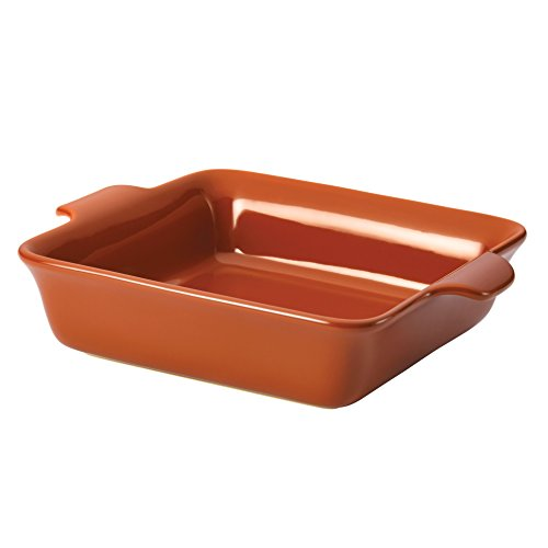 Anolon Vesta Stoneware 9-Inch Square Baker, Persimmon Orange