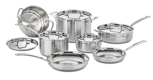 Cuisinart MCP-12 MultiClad Pro Stainless Steel 12-Piece Cookware Set Discount