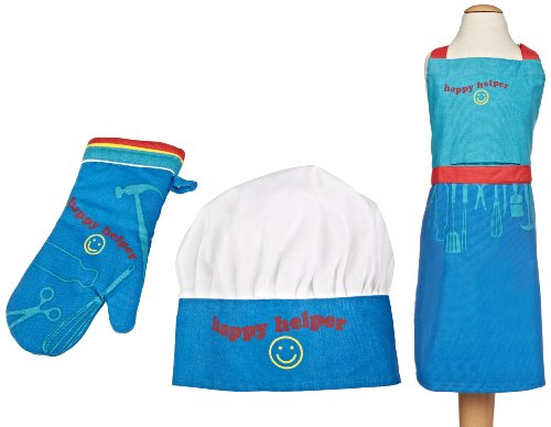 MU Kitchen miniMU Children's Apron Set (Blue)