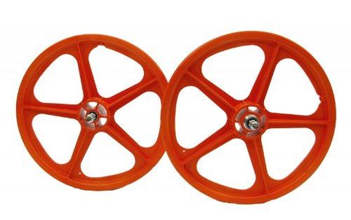 20-Skyway-Tuff-II-BMX-Laufradsatz-Set-Paar-verschiedene-Farben-Farbeorange