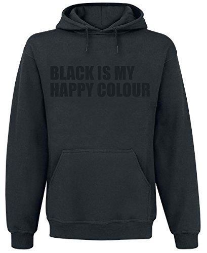 Black Is My Happy Colour Felpa con cappuccio nero S