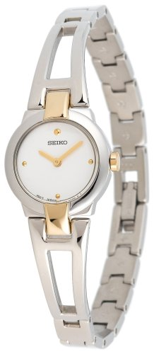 Seiko Women&#8217;s SUJ704 Dress Two-Tone Bangle Watch
