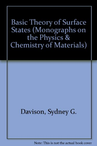 Basic Theory Of Surface States (Monographs On The Physics And Chemistry Of Materials)
