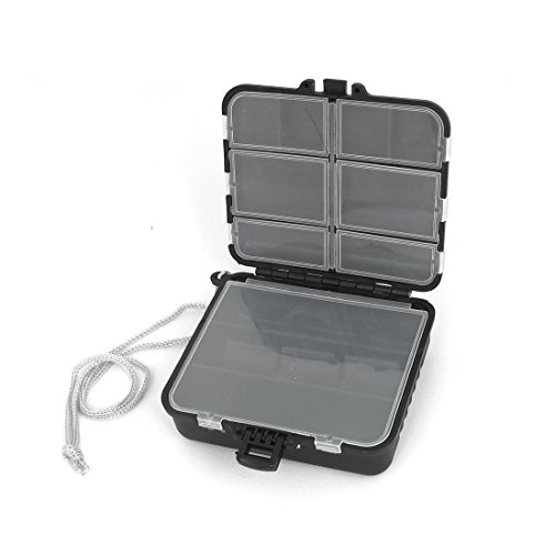 uxcell Plastic Detachable 19 Compartments Fish Lure Jewelry Storage Case Box (Fish Lure Containers compare prices)