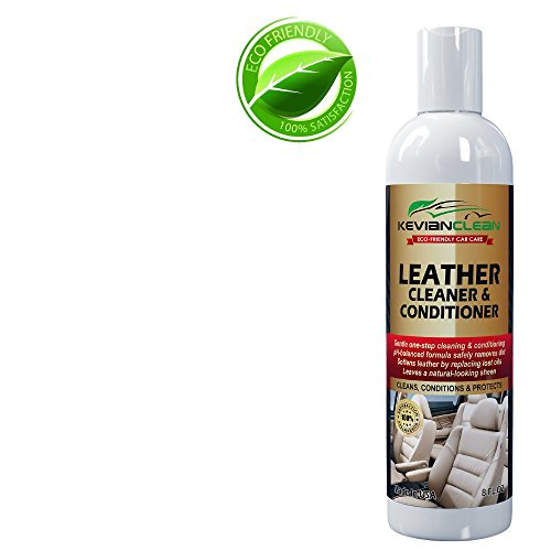 Auto Interior Leather Cleaner Conditioner by KevianClean - For Automotive Upholstery Detailing & Car Seat Restoration - Best Treatment For Furniture, Shoes, Handbags, Purses, Sofas and More 16 oz. (Organic Leather Conditioner compare prices)