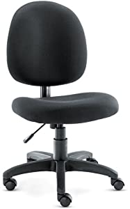 Alera VT48FA10B Swivel Task Chair, Acrylic, Black