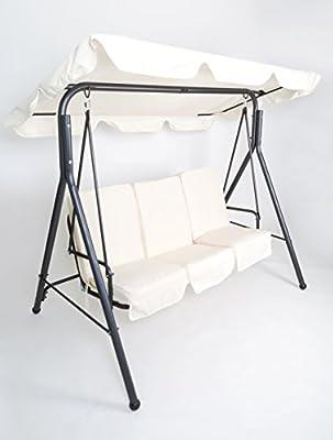 Rite Season KHS0021U Hollywoodschaukel Sol, Rahmenkonstruktion Stahl, Bezug Polyester, 3-Sitzer, beige von Rite Season - Gartenmöbel von Du und Dein Garten
