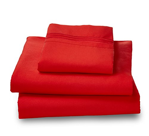 Where-the-Polka-Dots-Roam-100-Ultra-Soft-Microfiber-Easy-Care-Luxury-Sheet-Set-Twin-Red