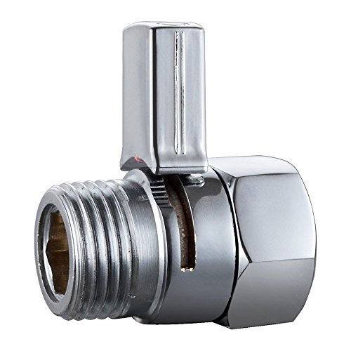 Shower Flow Control Value Shut Off Value for Bidet Sprayer ,Shower Head ,Hand Shower ,Supply Water Stop Brass Chrome (Shower Head Shut Off Value compare prices)