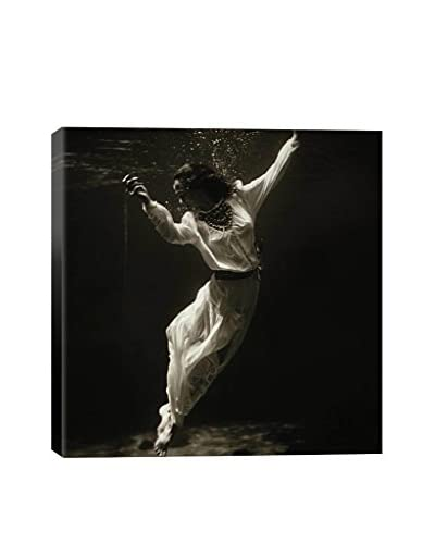 Toni Frissell Fashion Model Underwater In Dolphin Tank (Marineland Florida) Gallery-Wrapped Canvas P...