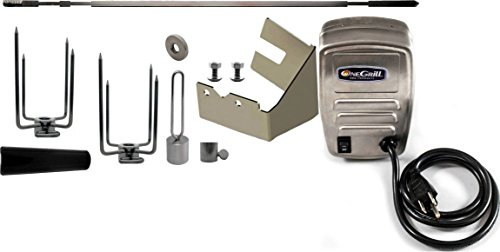 OneGrill Weber Fit Stainless Grill Rotisserie Kit With 50 lb. Electric Motor (Fits: Genesis 310/330 Spirit 310 & Older Models)
