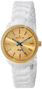 Invicta Women's 14909 Ceramics Gold Dial White Ceramic Watch