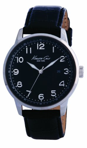 Kenneth Cole Men's Black Leather Strap Watch KC1226