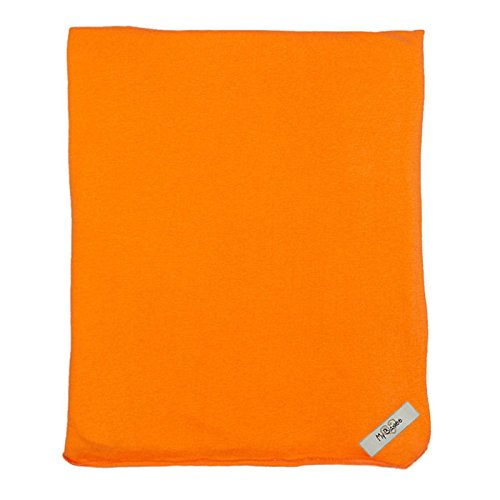 "My Blankee Organic Cotton  Jersey Knit Swaddle Baby Blanket, 47"" X 47"", Orange"