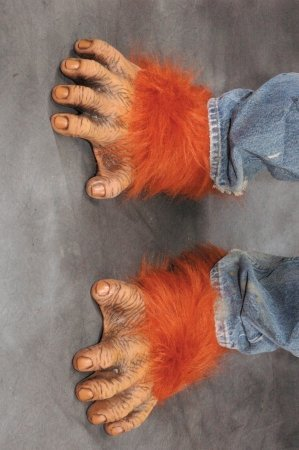 Orangutan Feet w/ Fur Deluxe Adult Halloween Costume Accessory