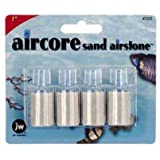 JW Pet Company 1-Inch Aircore Sand Airstone Aquarium Accessory, 4-Pack