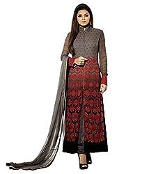 Mandani Fashion women's Fuax Georgette Party Wear Unstitched dress material(SF88_multi color)