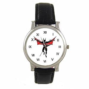 Batman Beyond Custom 100% NEW genuine leather Band fashion adult's Sport wrist watch