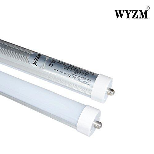 WYZM 20pcs F96T12 8ft 96″ 40Watt T8 T12 LED Tube Light,Frost Cover,Double-end Power,96w Fluorescent Tube Replacement, 6000k Super Bright Cool White,110~240V AC