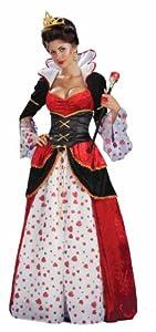 Forum Alice In Wonderland Queen Of Hearts Costume, Red, Standard
