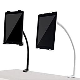 YKS Gooseneck 360 Lazy Bed Desk Stand Holder Mount For iPad 2 3 4 Air Mini Tablet (Black)