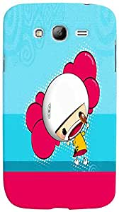 PrintVisa Cartoon Cute Girl Case Cover for Samsung Galaxy Grand Neo